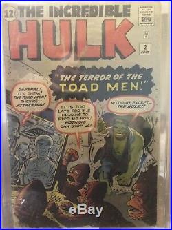 1962 Marvel Incredible Hulk #2 1st Appearance Green Hulk Cgc 1.8 Ow-w Box11