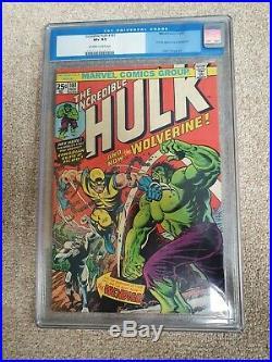 £1 min bid. Incredible Hulk #181 CGC 8.5 1974 1st full Wolverine Appearance