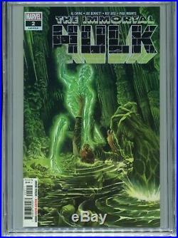 2018 Marvel Immortal Hulk #2 1st Appearance Dr. Frye Alex Ross Cover Cgc 9.8