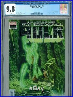 2018 Marvel Immortal Hulk #2 1st Appearance Dr. Frye Alex Ross Cover Cgc 9.8 B