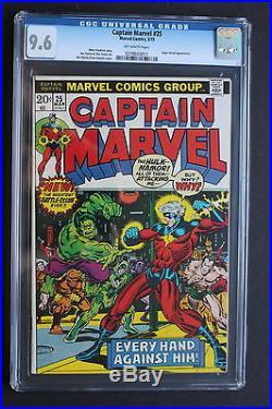 CAPTAIN MARVEL 25 Jim STARLIN THANOS WAR SAGA Begins 1973 Hulk Namor CGC NM+ 9.6