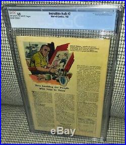 CGC 4.0 Incredible Hulk # 2 OW- White pages 1st Appearance Green Hulk & Toad Men