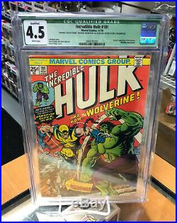 CGC 4.5 Incredible Hulk 181 Qualified 1st Full Appearance of Wolverine Marvel