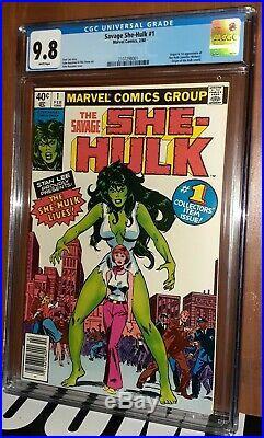 CGC 9.8 Savage She-Hulk #1 RARE Newsstand Variant. First 1st Appearance She-Hulk