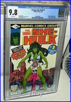 CGC 9.8 She-Hulk # 1 White Pages. 1st Appearance of She-Hulk (Jennifer Walters)