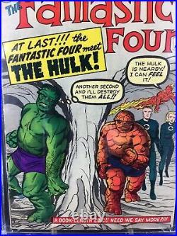 FANTASTIC FOUR #12 CGC 5.0 Blue Label 1ST Meeting Hulk and Fantastic Four