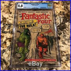 Fantastic Four #12 CGC 5.0 1st Marvel Crossover HULK VS THING & FF HUGE MCU KEY
