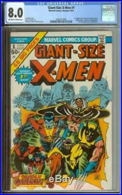 GIANT-SIZE X-MEN #1 CGC 8.0 OWithWH PAGES