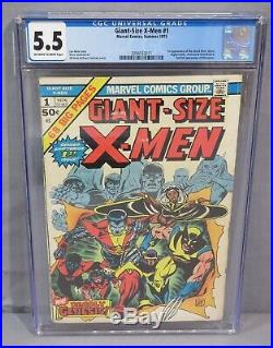 GIANT-SIZE X-MEN #1 (Storm, Colossus, Nightcrawler) CGC 5.5 Marvel Comics 1975