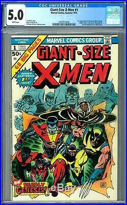 Giant-Size X-Men #1 CGC 5.0 (W) 1st Storm, Nightcrawler, Colossus, & Thunderbird