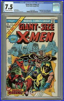 Giant-Size X-men #1 CGC 7.5 OWW 1st New Team 2nd Appearance of Wolverine