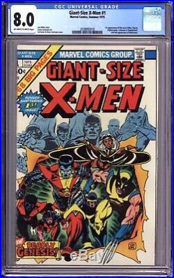 Giant Size X-men #1 Cgc 8.0 Ow White 1st App. New X-men, 2nd App. Of Wolverine