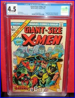 Giant-Size X-men 1 First Appearance Storm Colossus CGC 4.5 Marvel 1975 1st Print