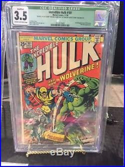 Hulk #181 CGC 3.5 Qualified First Appearance of Wolverine