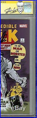 Hulk #1 CGC 9.0 VF/NM Signed STAN LEE Wal-Mart Edition Jack Kirby Art RARE HTF