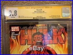 Hulk 1 CGC 9.8 SS 1st Red Hulk! Signed by Ed McGuinness! Marvel 2008