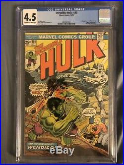 INCREDIBLE HULK #180 CGC 4.5 OWithW 1ST APPEARANCE CAMEO WOLVERINE KEY UNDERGRADED