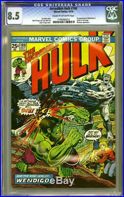 INCREDIBLE HULK #180 CGC Graded 8.5 VF+ 1st Appearance of WOLVERINE