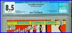 INCREDIBLE HULK 181 CGC 8.5 WHITE pgs (1974) MARVEL COMICS 1st App WOLVERINE