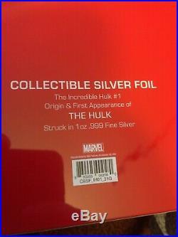 INCREDIBLE HULK #1 CGC 9.8 1oz PURE SILVER FOIL 2019 LTD MINT 1000 MARVEL COMICS