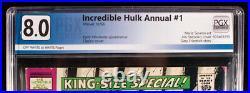INCREDIBLE HULK KING SIZE ANNUAL #1 PGX 8.0 Very Fine VF HTF + Free CGC