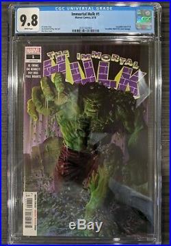Immortal Hulk #1 CGC 9.8 1ST PRINT MARVEL COMICS NM Hulk #718