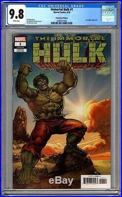 Immortal Hulk #1 Cgc 9.8 Nm/mt Remastered Buscema 1500 Variant