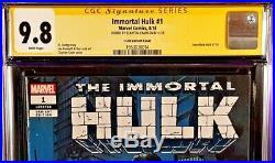 Immortal Hulk #1 Cgc Ss 9.8 Clayton Crain Variant Marvel Comic 2018