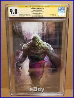 Immortal Hulk #20 Cgc 9.8 Ss Bill Sienkiewicz Signed Virgin Sdcc Variant