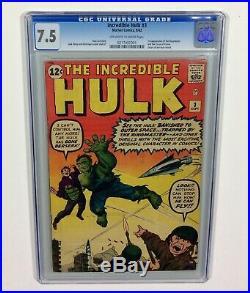 Incredible HULK #3 CGC 7.5 KEY OWithW (1st Ringmaster, Origin HULK) 1962 Marvel