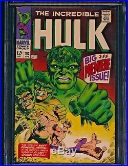 Incredible Hulk #102 (04/68) Cgc Nm- 9.2 Ow-wp Origin Retold Enchantress Odin