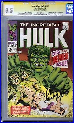 Incredible Hulk #102 CGC 8.5 SIGNED LOU FERRIGNO ORIGIN RETOLD Not CBCS
