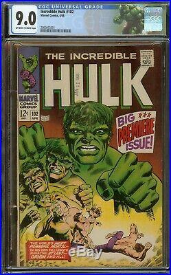 Incredible Hulk #102 CGC 9.0, Origin of Hulk Key Issue 1968