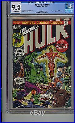 Incredible Hulk #178 Cgc 9.2 Marvel Death Rebirth Warlock