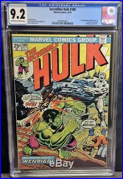 Incredible Hulk #180 (1974) CGC Graded 9.2 1st Cameo Appearance Wolverine