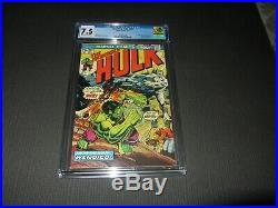Incredible Hulk 180 CGC 7.5 VF- 1st App. Of Wolverine in Cameo (Marvel 1974)