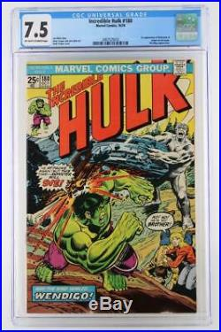 Incredible Hulk #180 CGC 7.5 VF- Marvel 1974 1st cameo App of Wolverine