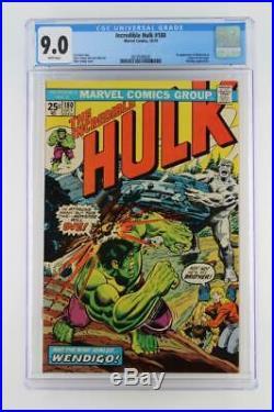 Incredible Hulk #180 CGC 9.0 VF/NM Marvel 1974 1st cameo App of Wolverine