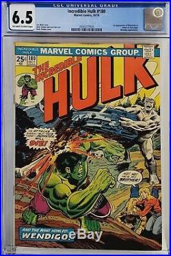 Incredible Hulk #180 Cgc 6.5 1st Wolverine