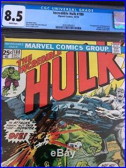 Incredible Hulk #180 Cgc 8.5 White Pages! 1st Appearance Cameo Wolverine Hot