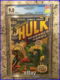 Incredible Hulk 180 and 182 CGC 9.0