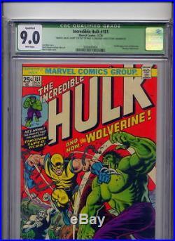 Incredible Hulk #181, 1974, Marvel, 1st full app. Wolverine CGC 9.0