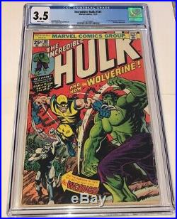 Incredible Hulk #181 1st full appearance WOLVERINE 1974 CGC 3.5 white pages