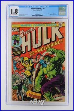 Incredible Hulk #181 CGC 1.8 GD- Marvel 1974- Wendigo 1st App of Wolverine