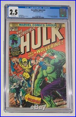 Incredible Hulk #181 CGC 2.5 1st full appearance Wolverine 1974 Herb Trimpe