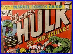 Incredible Hulk #181 CGC 3.0 Off White to White Pages 1st Wolverine