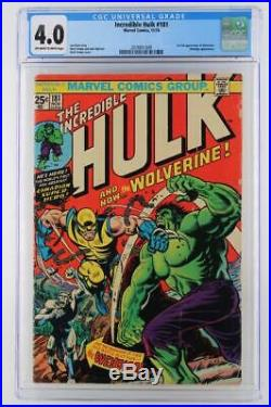 Incredible Hulk #181 CGC 4.0 VG -Marvel 1974- Wendigo 1st App of Wolverine
