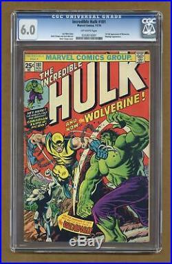 Incredible Hulk #181 CGC 6.0 1974 0243610001 1st app. Wolverine (full non-cameo)