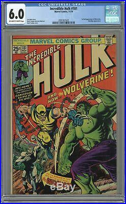 Incredible Hulk #181 CGC 6.0 1974 2091937002 1st app. Wolverine (full non-cameo)