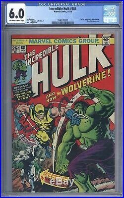 Incredible Hulk #181 CGC 6.0 Vol 1 Beautiful Upper Mid Grade 1st App Wolverine